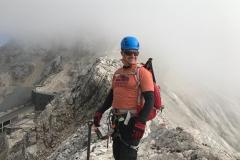 Erwin op de topgraad van de Zugspitze